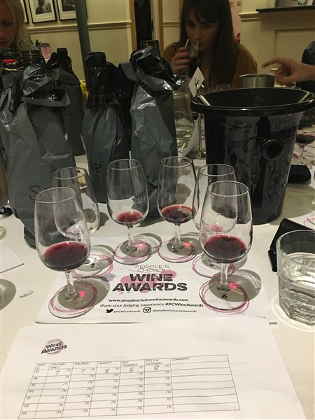 Judging table wine awards